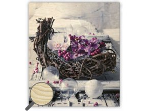 Moderní dřevěný obraz na stěnu Design (květiny)