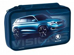 Školní penál dvoupatrový Škoda Vision
