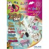 3D omalovánky ZOO set/ Slon, opice, plameňák, pes, prase, netopýr, kočka