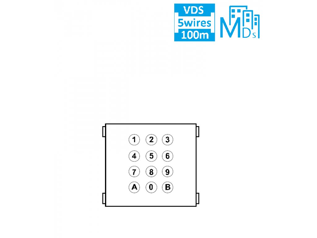 PVT.9642 MDS/VDS MODUL DIGITAL KLÁVESNICE SKY LINE A MARINE