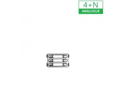 PVT.9683 4+N MODUL 2x3 TLAČÍTKA CITY MAX