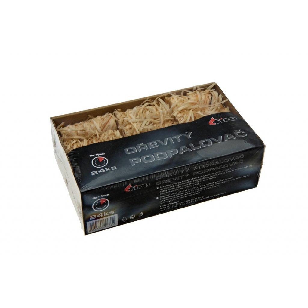 40401 Dřevitý podpalovač box 24ks 58mm