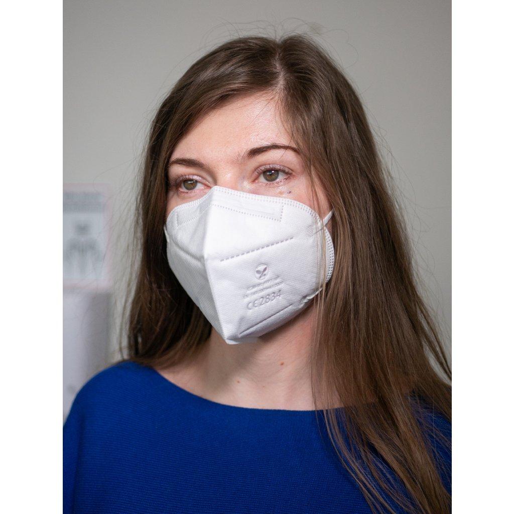 respirátor bílý ffp2