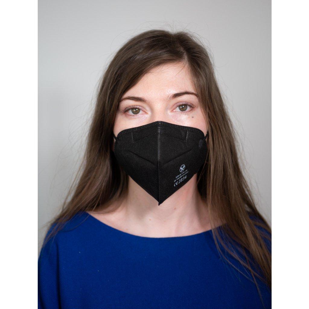 respirátor černý ffp2