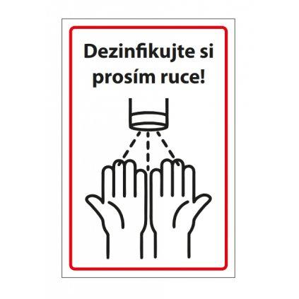 Dezinfikujte si prosím ruce bílá