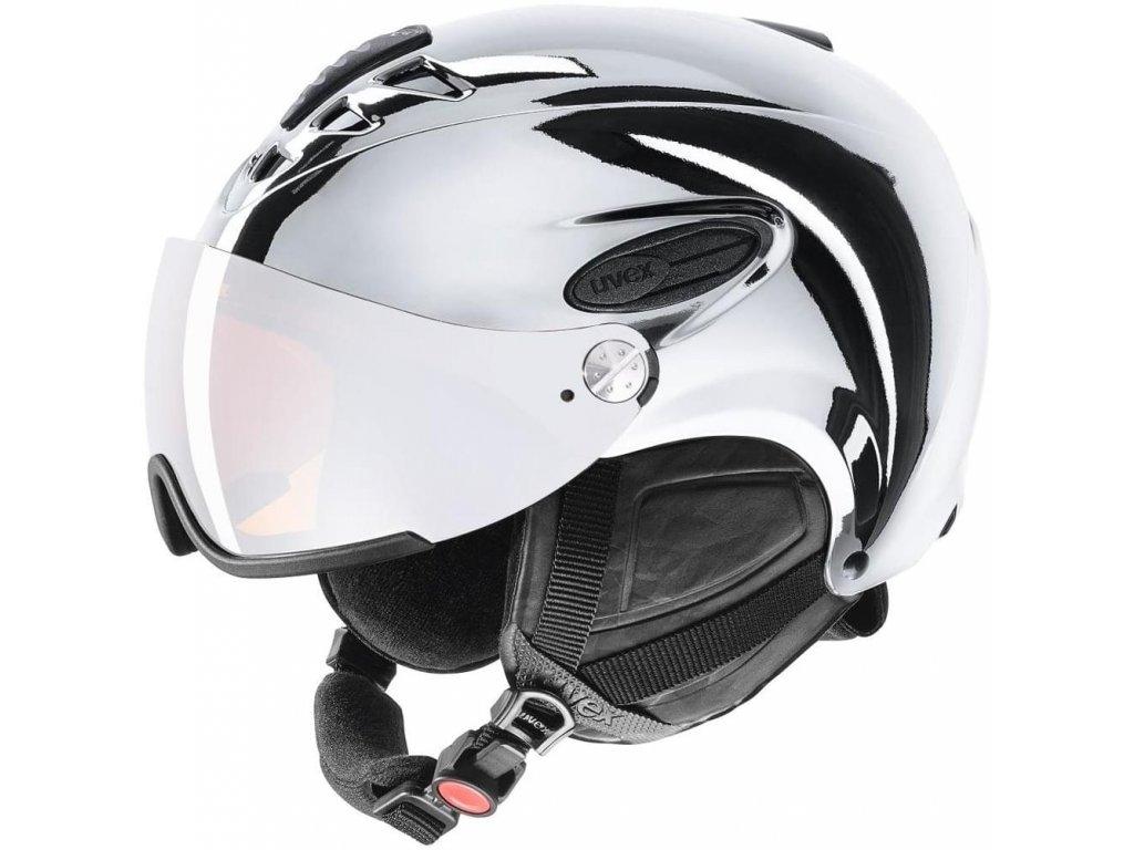 Lyžařská helma UVEX HLMT 300 Visor Chrome LTD