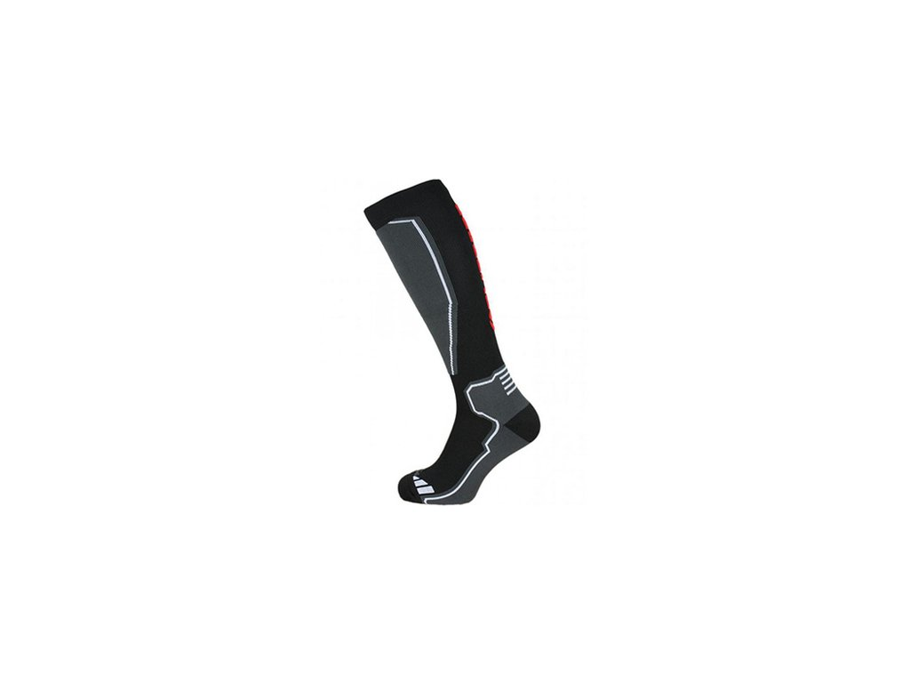 Ponožky BLIZZARD Compress 85 Black/Grey/Red