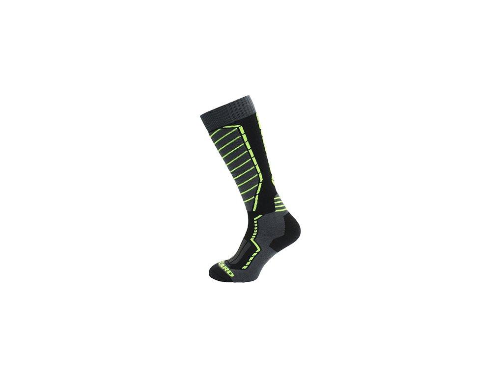 Ponožky BLIZZARD Profi Black/Anthracite/Signal yellow