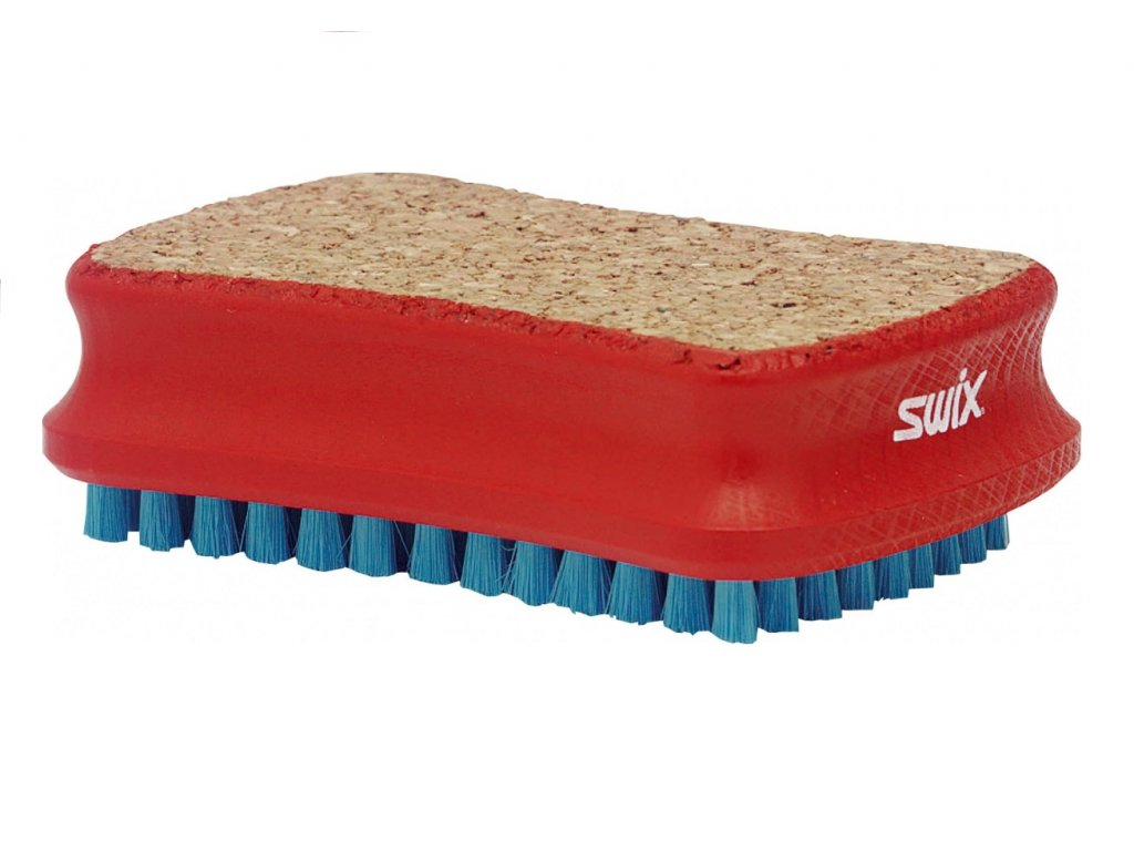 SWIX Kartáč Kombi - Nylon/Korek, střední T0196B