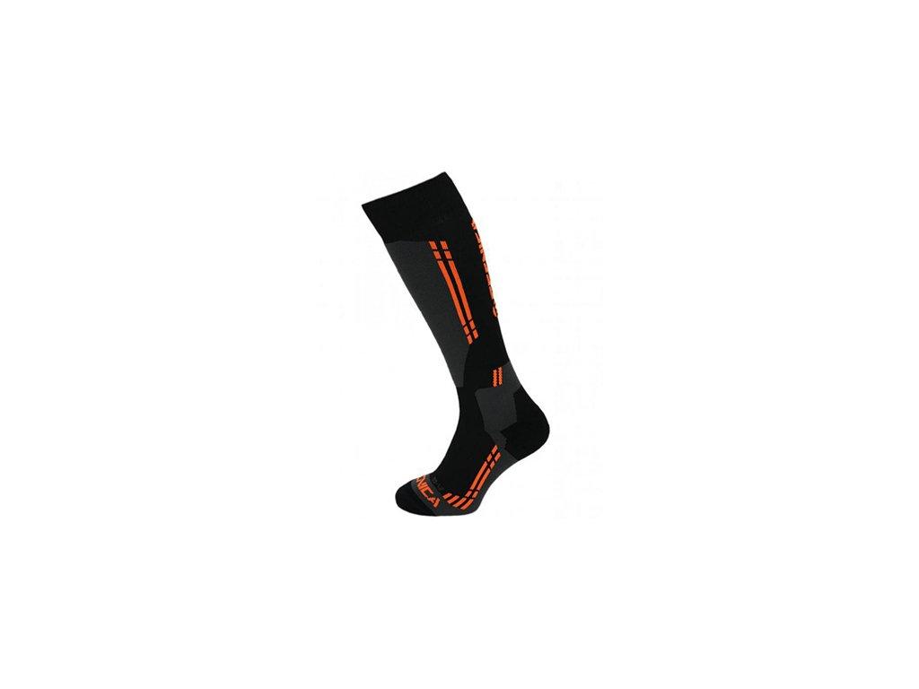 Ponožky TECNICA Competition Black/Anthracite/Orange