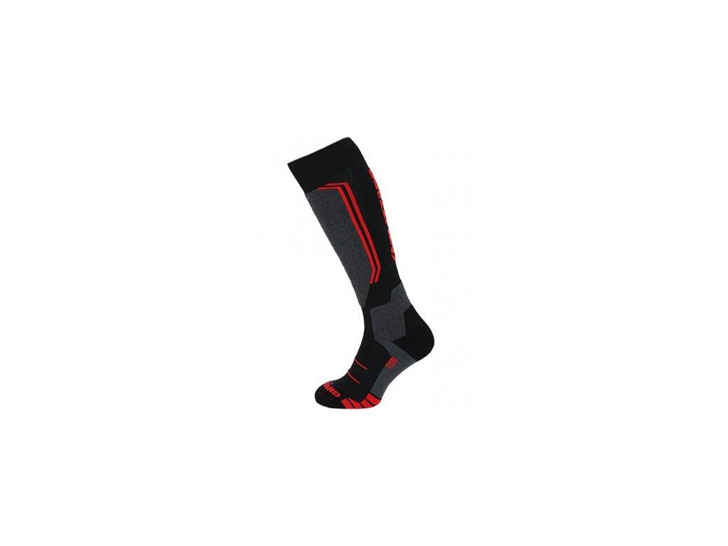 Ponožky BLIZZARD Allround Wool Black/Anthracite/Red