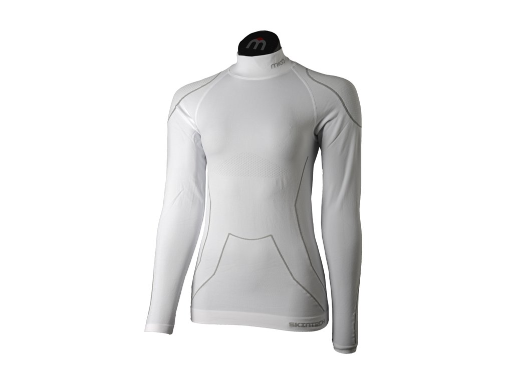 mico in1841 007 woman l sleeves mock neck shirt warmskin 1[1]