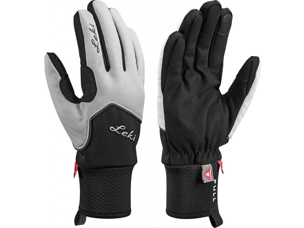 Rukavice LEKI Nordic Thermo Lady White/Black/Charcoal