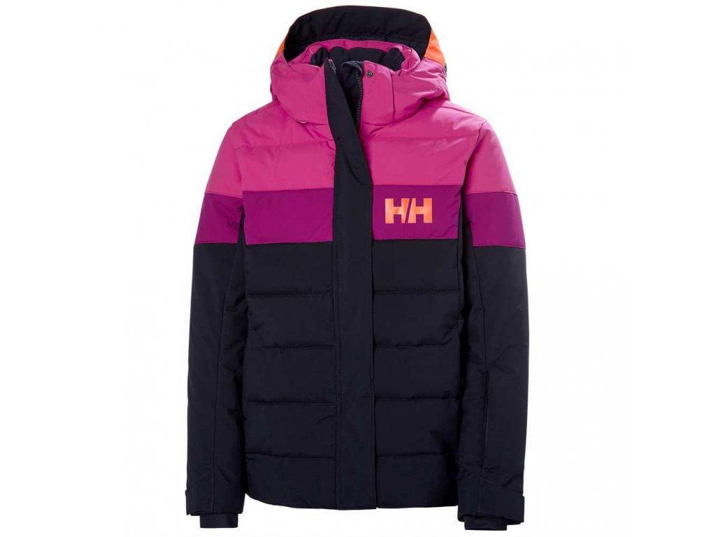 Lyžařská bunda Helly Hansen JR Diamond Jacket Navy Pink