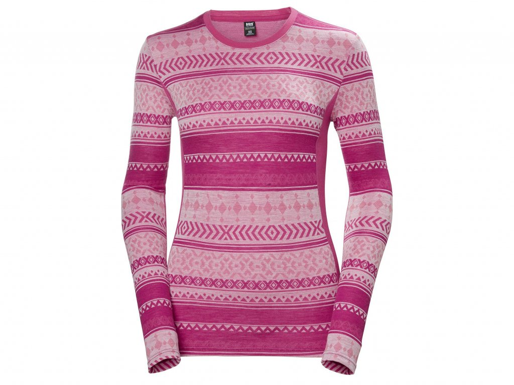 Helly Hansen W Merino Mid Graphic LS dragon fruit[1]
