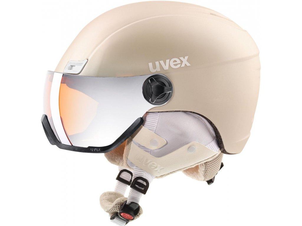 Přilba UVEX HLMT 400 Visor Style Prosecco met mat