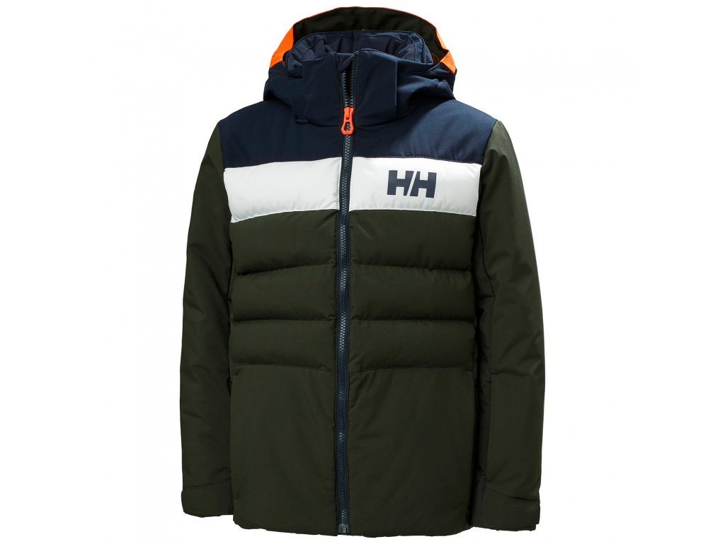 Helly Hansen lyžařská bundaJR Cyclone Pine Green