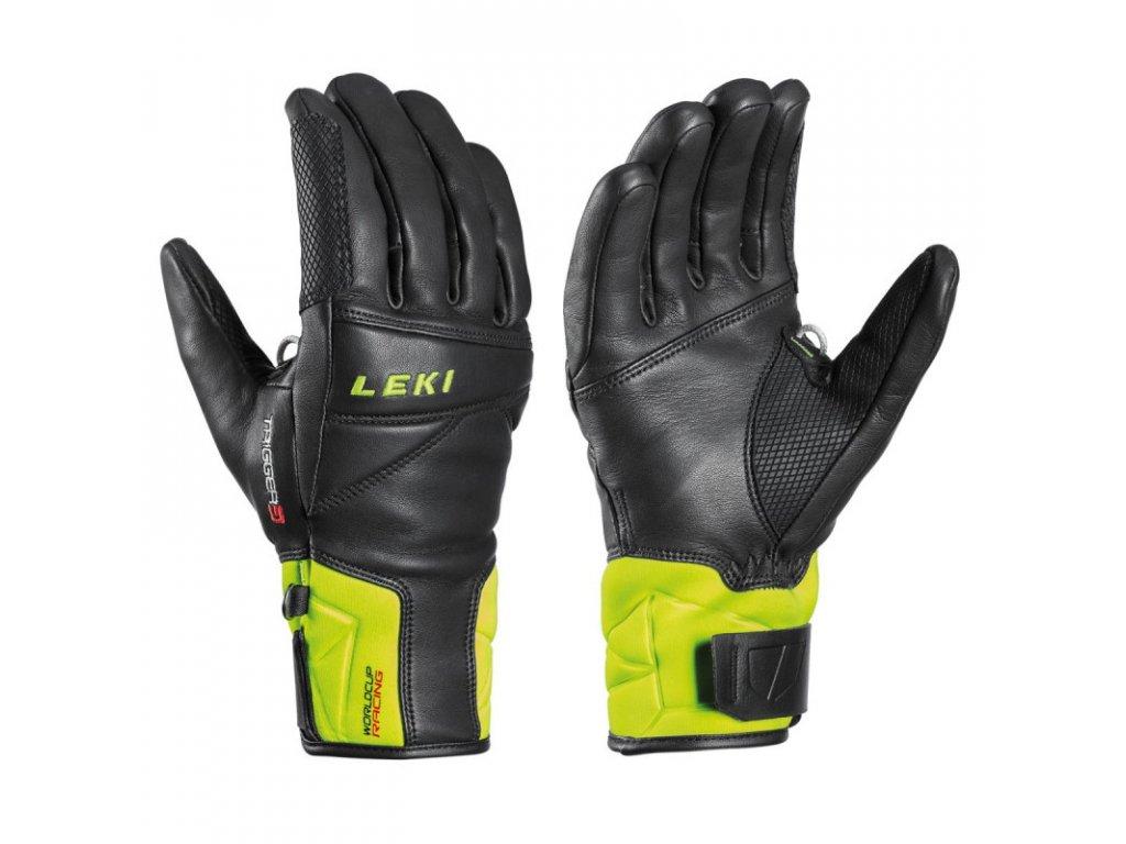 Rukavice LEKI Worldcup Race Speed 3D Black/Ice/Lemon