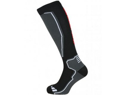 Ponožky BLIZZARD Compress 85 Black/Grey/Red
