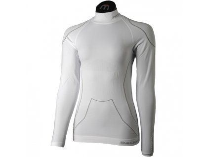 7D7A797C7E7579786D6F7A7E 6B5C5A5A5A5A5B626C6E5E5C tricko woman l sleeves mock neck shirt warmskin bianco[1]