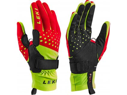 Rukavice LEKI Nordic Race Shark Red/Yellow/Black