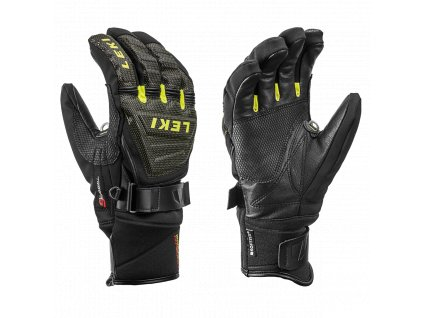 Rukavice LEKI Race Coach C Tech S Black/Ice/Lemon