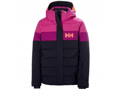 Lyžařská bunda Helly Hansen JR Diamond Jacket Navy Pink