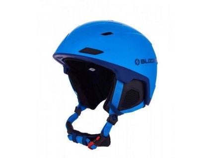 Přilba BLIZZARD DOUBLE Blue Matt/Dark blue/Logo