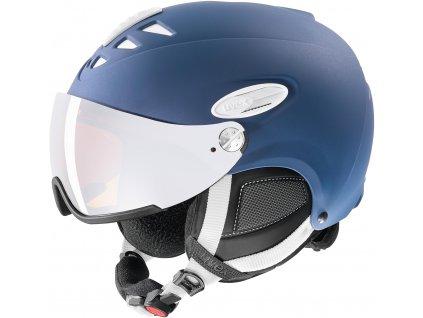 Lyžařská helma UVEX HLMT 300 Visor Navy Blue