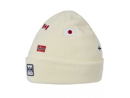 Čepice HELLY HANSEN Flag Beanie Off White
