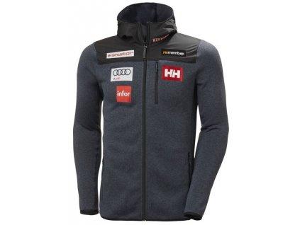 Mikina HELLY HANSEN VARDE HOODED FLEECE Jacket SWE Slate