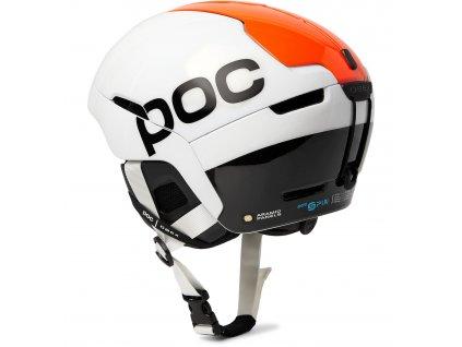 Přilba POC OBEX BC SPIN Hydrogen White/Fluorescent Orange AVIP