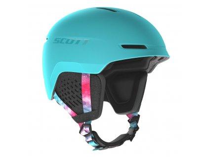 Přilba SCOTT Track Cyan Blue/Pink