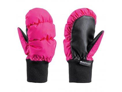 rukavice leki little eskimo mitt short pink 3