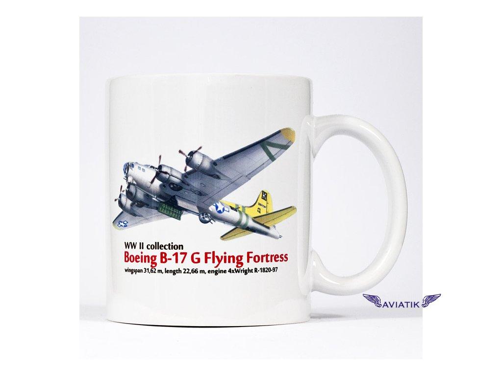 Hrnek s potiskem B 17 G Flying Fortress