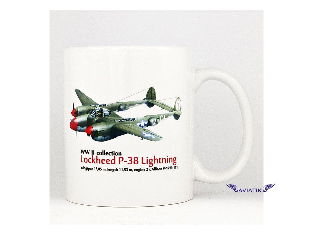 Hrnek s potiskem P 38 Lightning