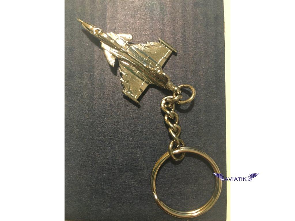 Gripen  - klíčenka stříbrná