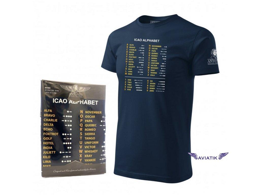 Tričko s fonetickou abecedou ICAO