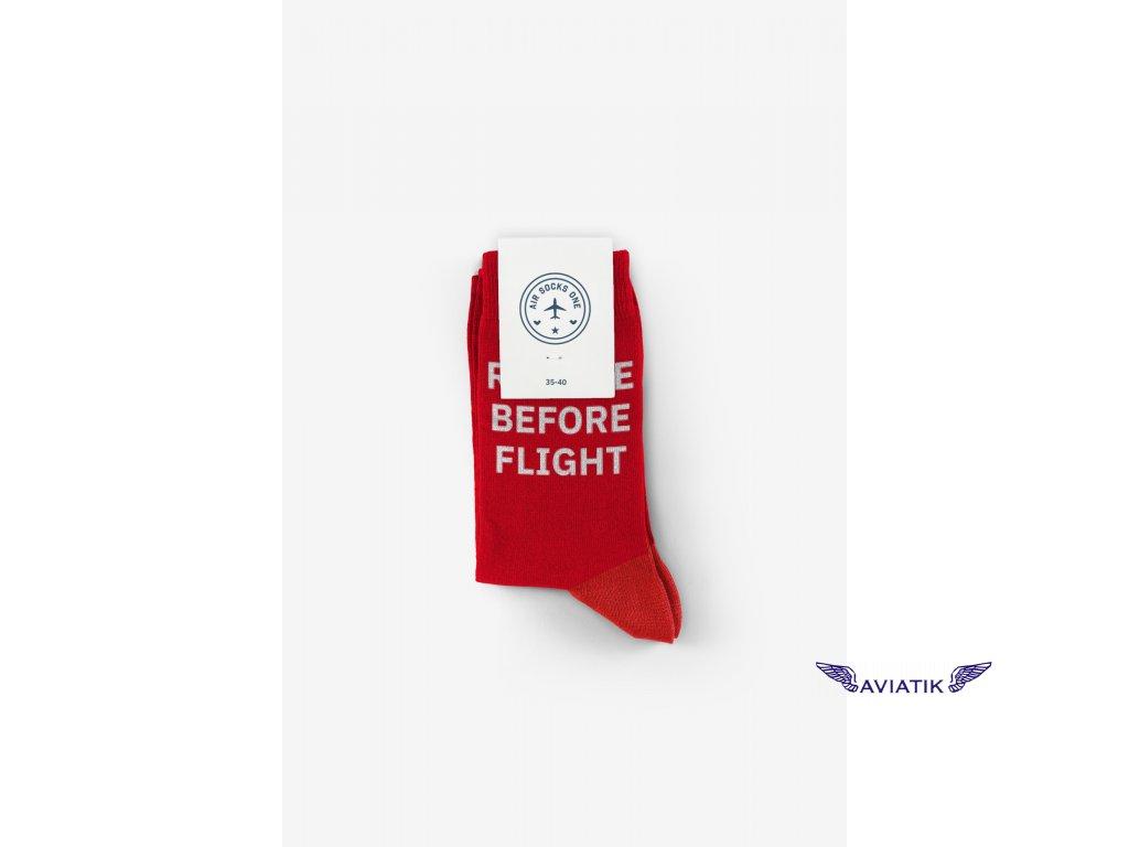 ponožky remove before flight