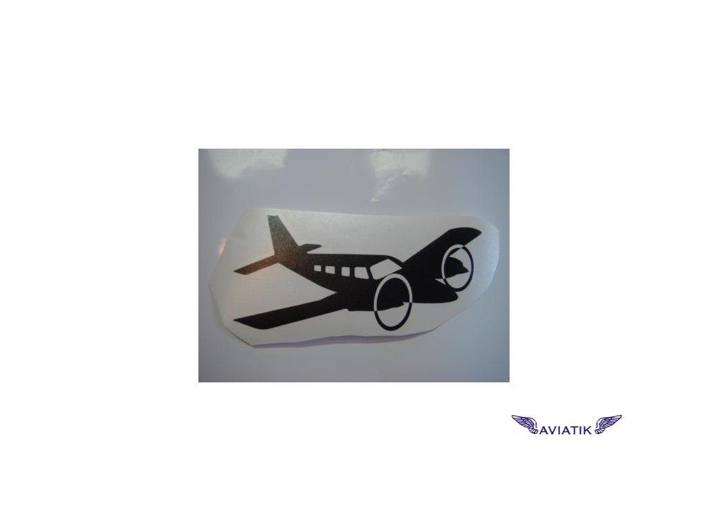 Samolepka dvoumotorové letadlo