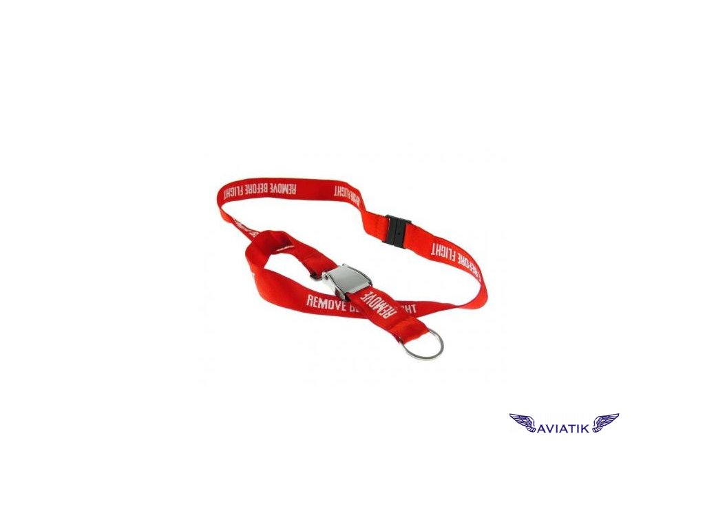 Klíčenka na krk  Remove before flight