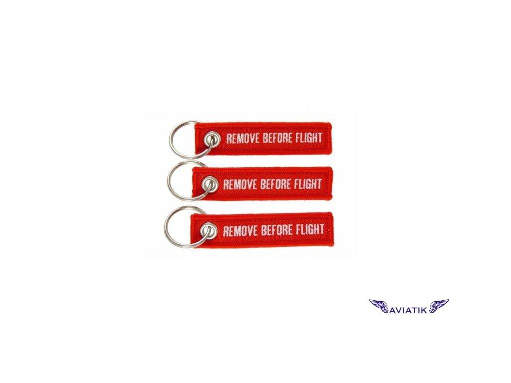 MINI REMOVE BEFORE FLIGHT červené