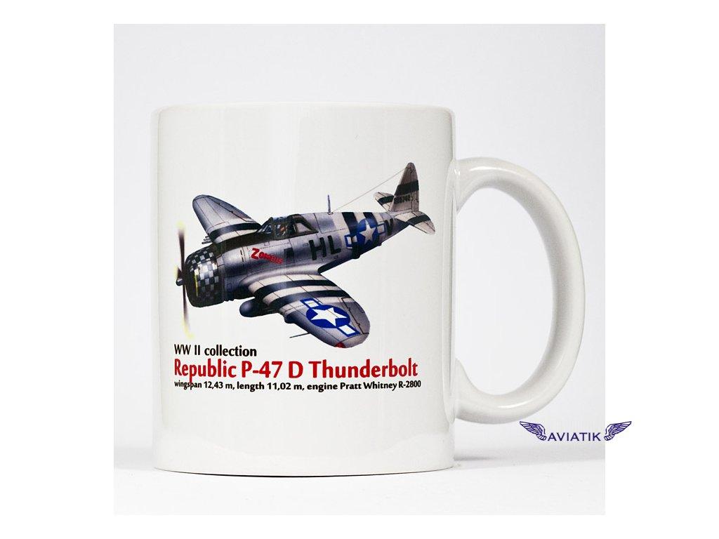 Hrnek s motivem P 47 D Thunderbolt