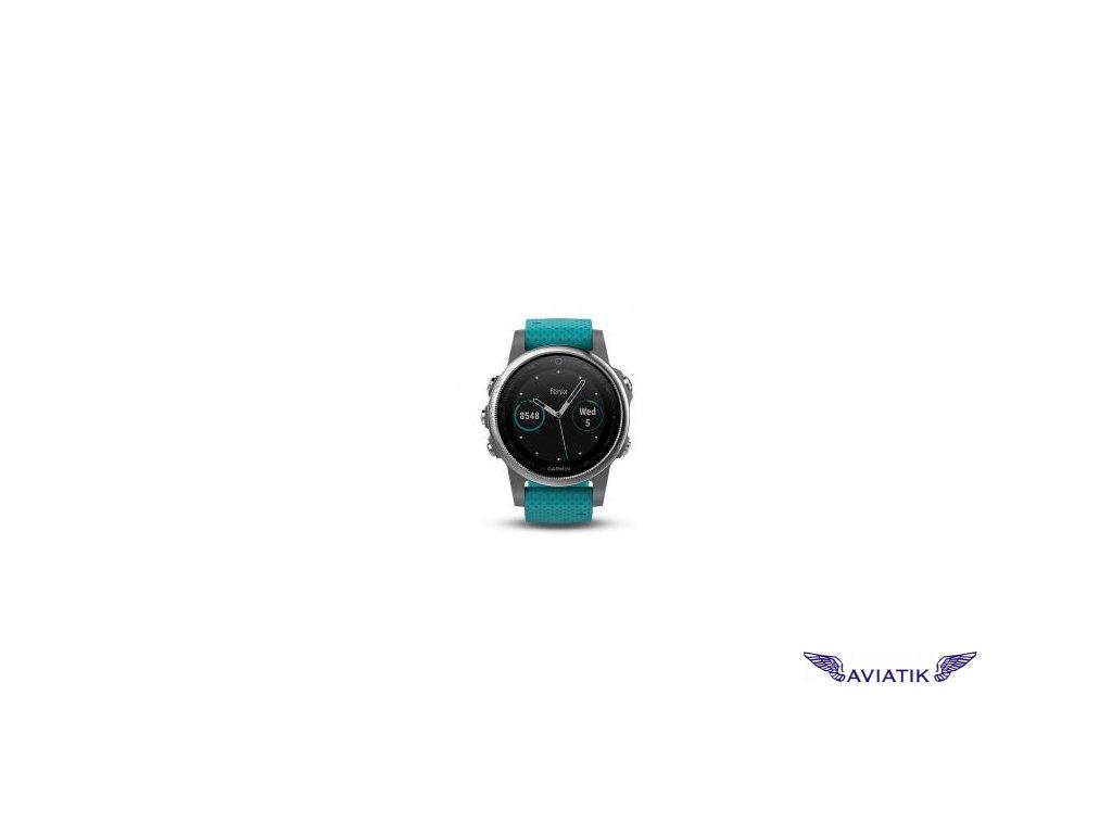 Garmin fenix5S Silver Optic, Blue band