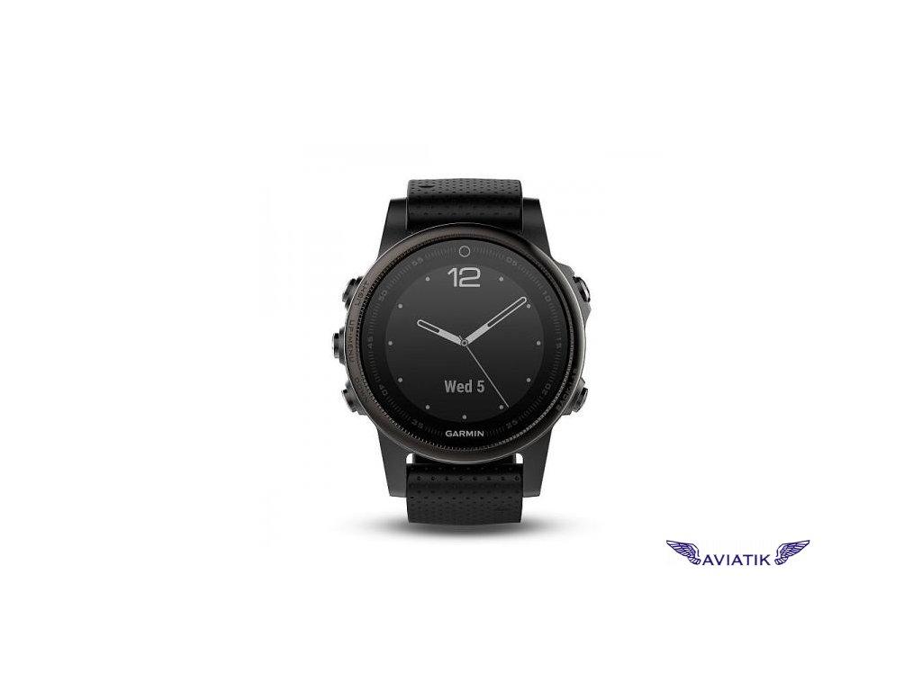 Garmin fenix5S Sapphire Gray Optic, Black band