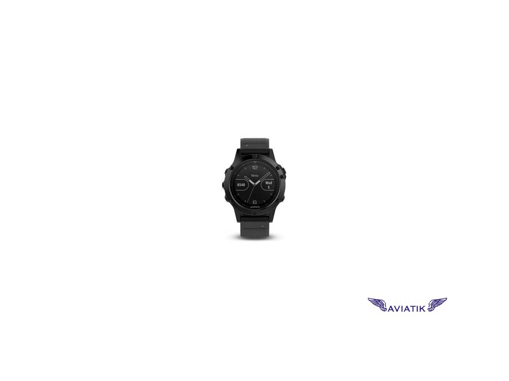 Garmin fenix5 Sapphire Black Optic, Black band