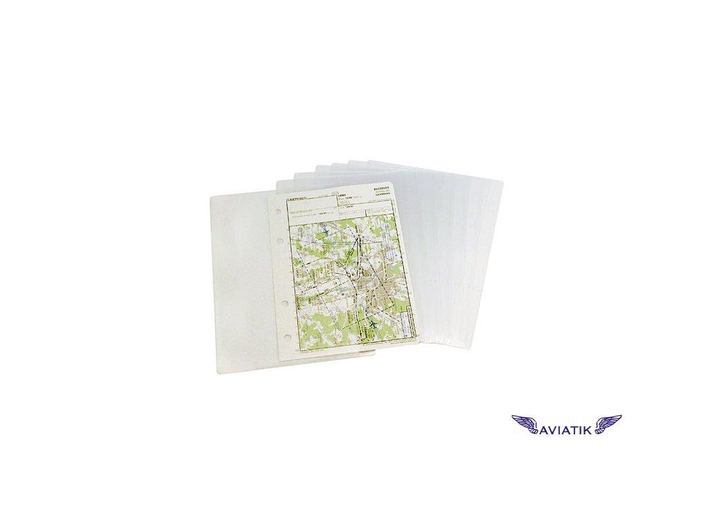 Transparent pockets A6 for the Piccolo Profi kneeboard