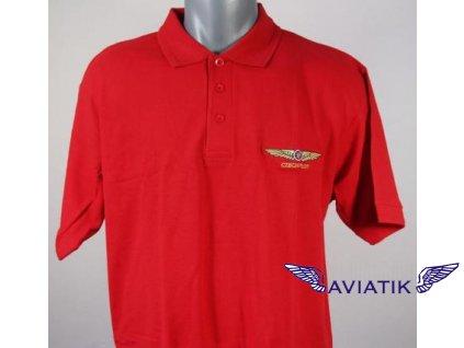 Polokošile s výšivkou CZECH PILOT červená barva
