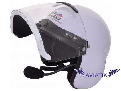 mm001b white microavionics ul 100 integral headset helmet system 1