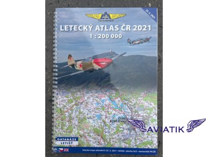 Letecký atlas ČR 2021 měřítko 1:200 000